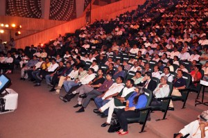 Large audience at the Orange Flash Awards in Ahmedabad