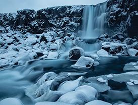 Bruarfoss waterfalls